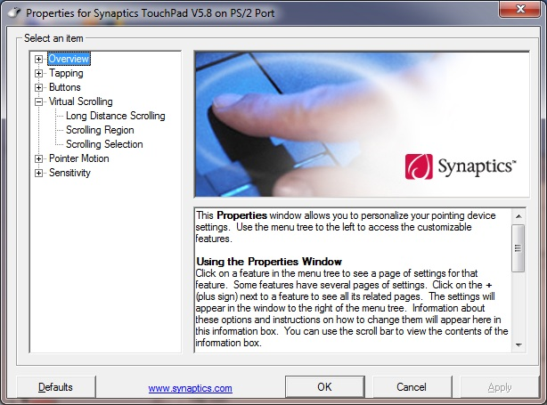 Synaptics Touchpad Driver Windows 7 64