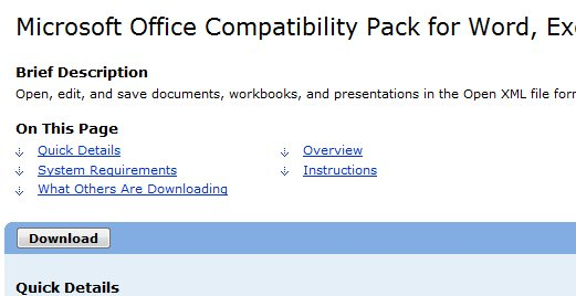 Download Microsoft Office Compatibility Pack Service Pack ...